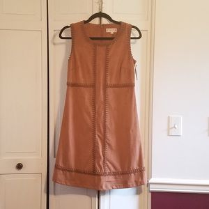 Nanette Lepore Brown Suede Dress